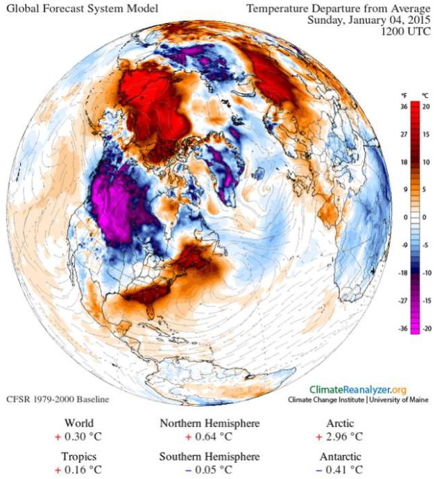 Couple of Arctic Cold Waves Next 2 Weeks