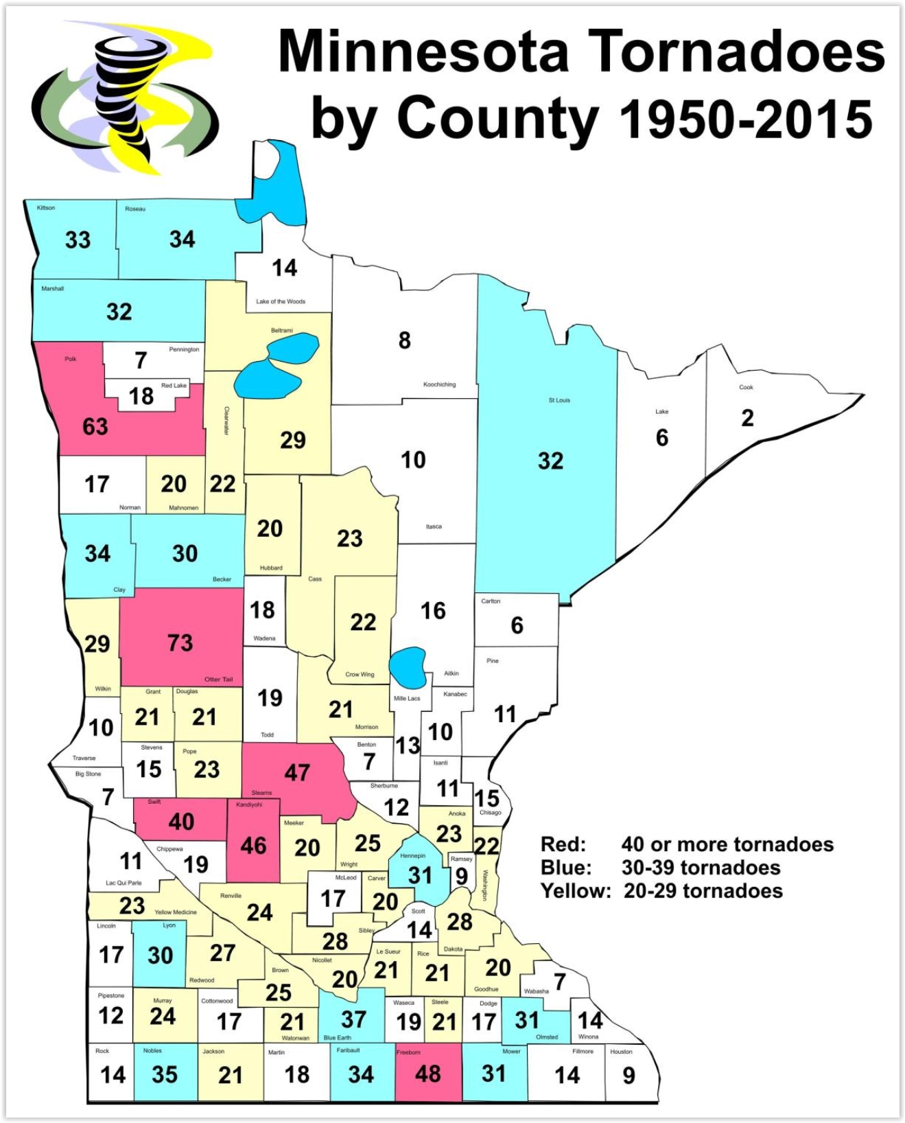 June Comes Early – Minnesota's Safest County from Tornadoes?