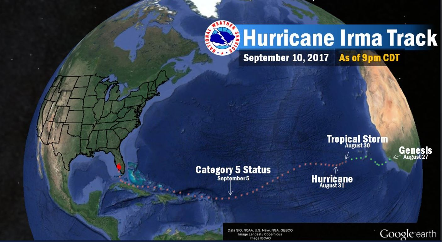 Weekend Thunderstorms – Lessons of Hurricane Irma
