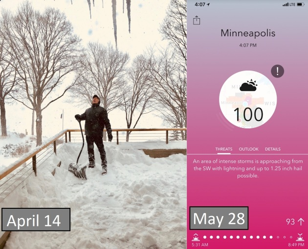 From a 26″ April to the Hottest May on Record? Earliest 100F at MSP