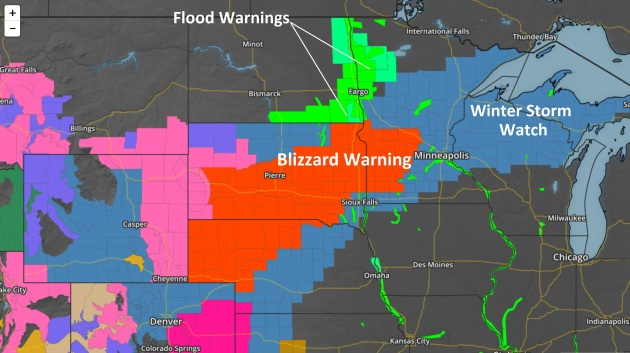Wintry Mix Should Keep Snow Totals in 3-8″ Range – Blizzard Conditions Likely West of MSP – Impassable Roads Possible by Thursday