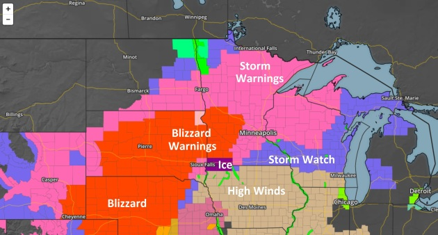April Insanity: Ice, 50 mph Wind Gusts – Metro Storm Totals Near 10″ by Friday