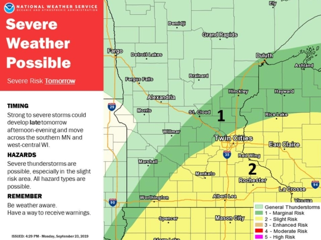 Severe Storm Risk Later Today – Heavy Rain Potential in 6-8 Days
