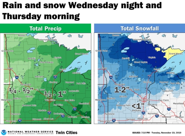 Rainy Wednesday Night – Potential for Significant Rain/Snow First Half of Next Week