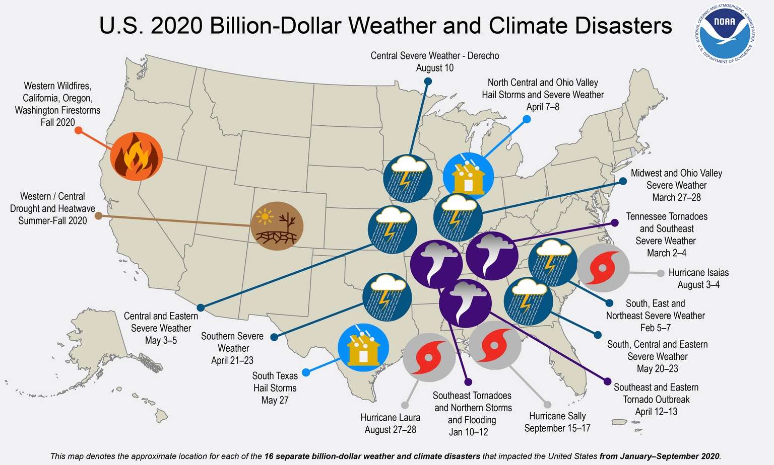"""Delta"" May Strike Louisiana as Category 3 Hurricane – 16 Billion Dollar Disasters in 2020"