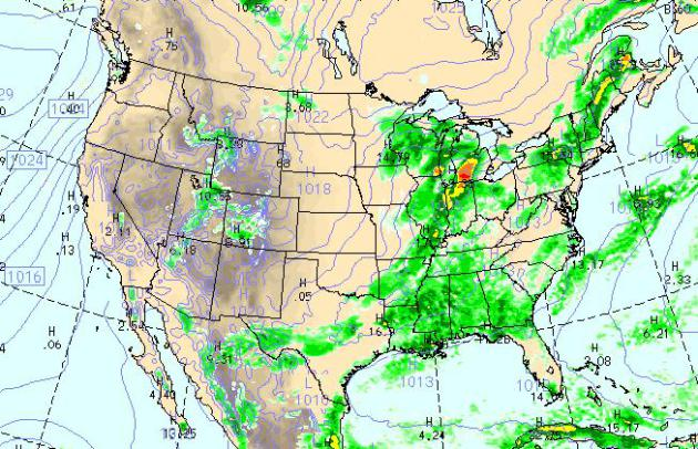 St Louis Weather Map Instability Showers Stay South/East (July: hottest month for  St Louis Weather Map